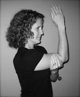 asana analysis eagle arms pose/garudasana muscles