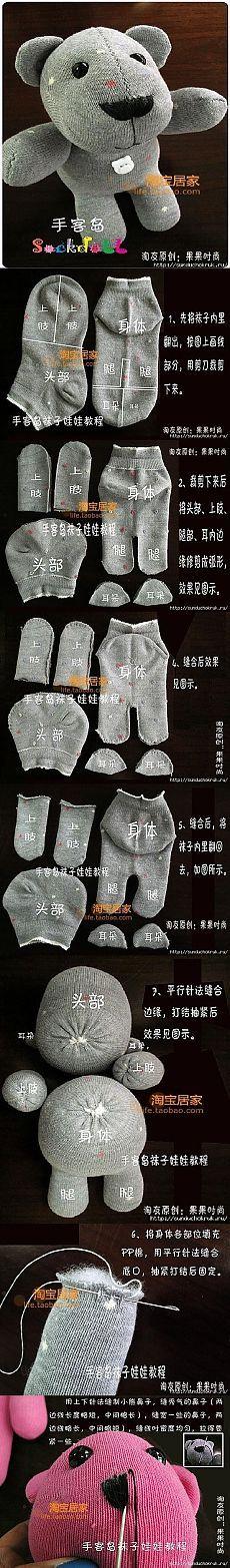 çoraptan oyuncak