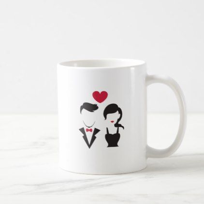 Silhouette Couple Coffee Mug - for him love gift idea diy custom special gifts present