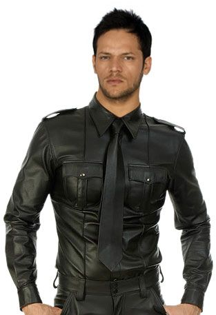 Sexy and stunning mens leather shirts online