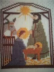 cross stitch nativity scene - Pesquisa Google