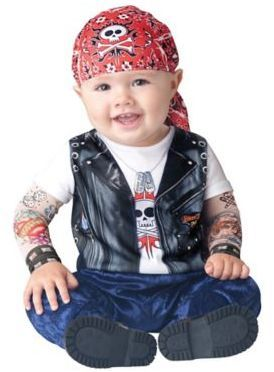 Born to be Wild Medium Infant Halloween Costume Your little one will be one cute tough cookie in this Born to be Wild Infant Halloween Costume. Afflink.