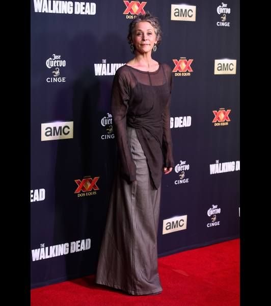 Melissa McBride attends the Season 5 premiere of 'The Walking Dead' at AMC Universal City Walk on October 2, 2014 in Universal City
