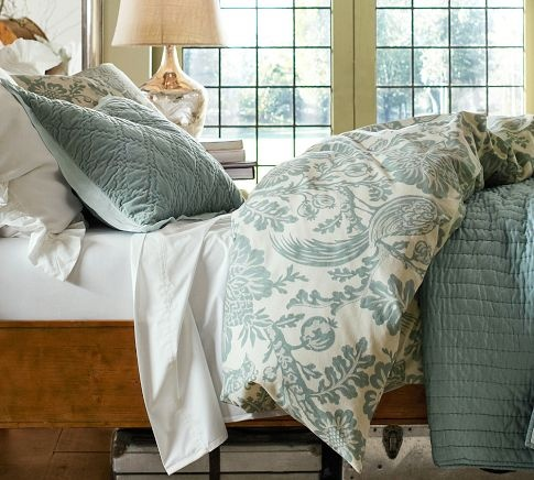 For Master Bedroom - Arista Palampore Rustic Luxe™ Bedding Ensemble - Blue | Pottery Barn