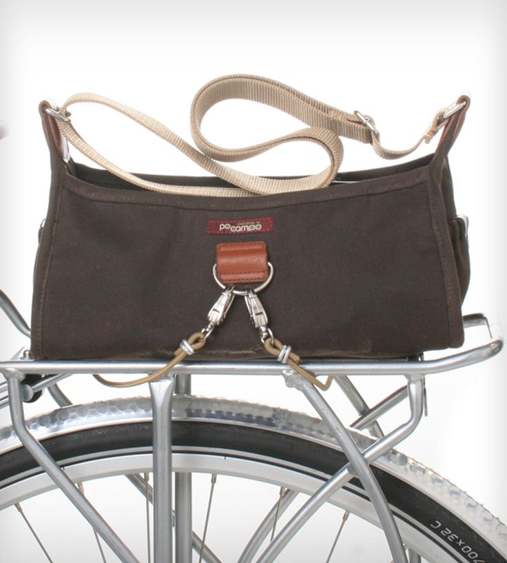 Pilsen Bungee Bag (can be used as a normal purse, holds a yoga mat, and also hooks to your bike)