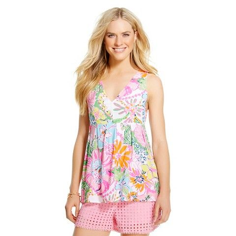Lilly Pulitzer for Target Women's V-Neck Tank Top - Nosie Posey
