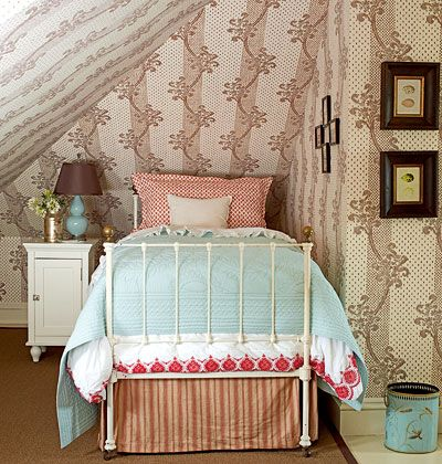 Cozy Bedroom Nook. Would be a great place to snuggle in on a cold and windy night.