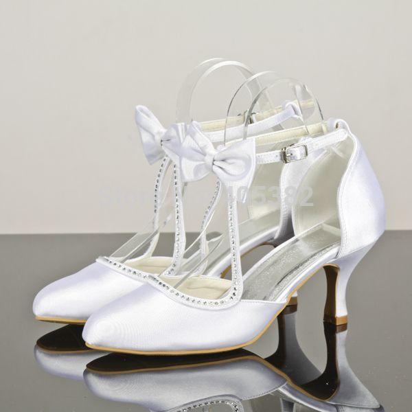 Диана дешевые белый пользовательских свадебные туфли для подружек невесты туфли на высоком каблуке дизайнер 7 см пятки