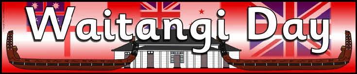 Waitangi Day (New Zealand) classroom display banner.