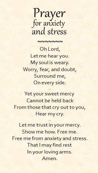 In your anxiety trust in God