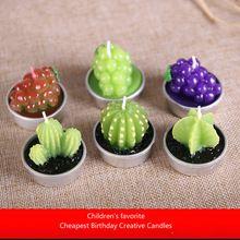 1 Pcs lindo vaso de plantas perfumado velas criativo velas criativo velas decorativas frete grátis(China (Mainland))