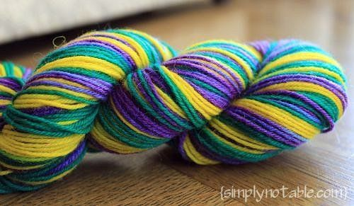 Dye your own sock yarn with easter egg tablets... so totally doing this!!