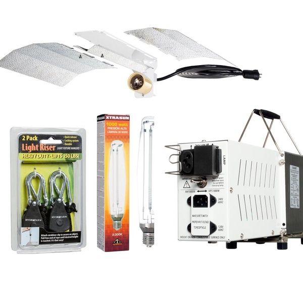 Hydrofarm Hydroponic Indoor 1000w Hps Grow Light Kit Reflector Ballast Bulb Indoor Grow Lights Hps Grow Lights Grow Lights