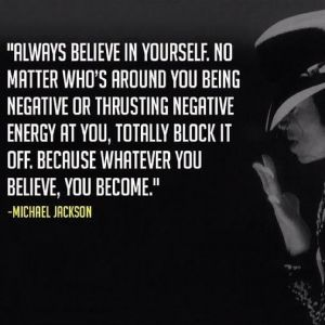 Michael Jackson, if he only believed!