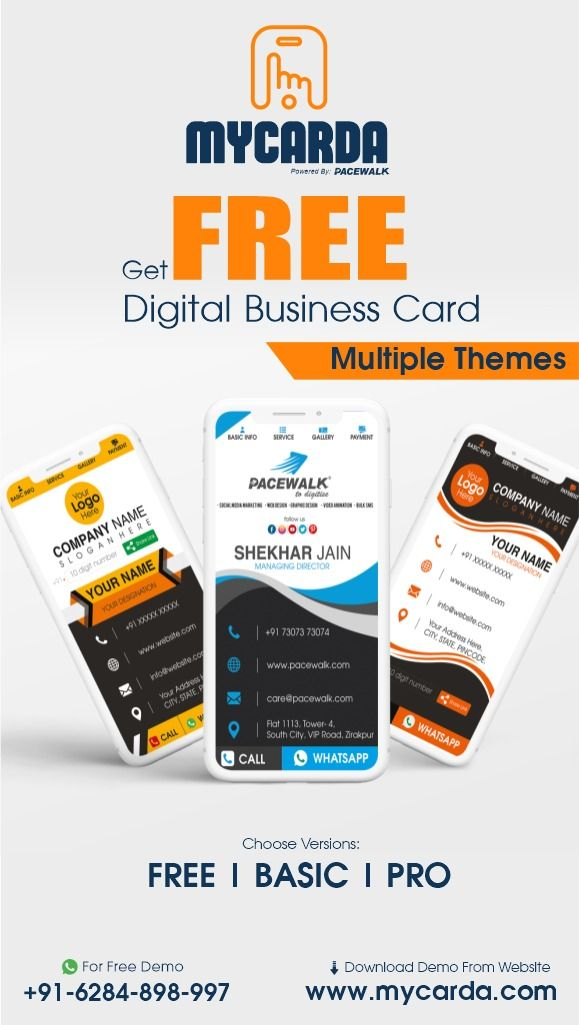Free Digital Card Templates Mycarda Digital Business Card Business Card Maker Marketing Business Card