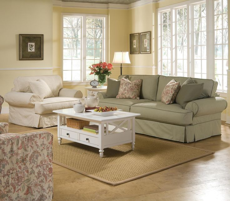Sofa Pillows Addison Stationary Living Room Group by Rowe