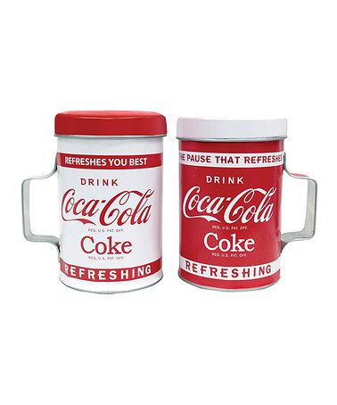 This Coca-Cola 'Drink' Salt & Pepper Shakers by Coca-Cola  is perfect! #zulilyfinds