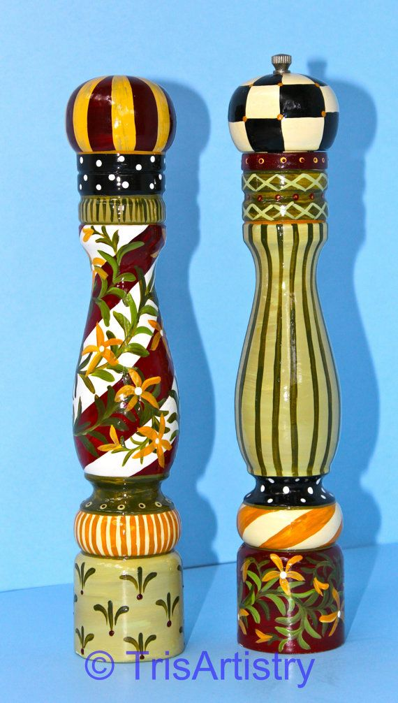 French Red Pepper Mill & Salt Shaker by TrisArtistry on Etsy, $155.00 See more of my work at www.etsy.com/shop/TrisArtistry Follow me on Facebook at www.facebook.com/TrisArtistry