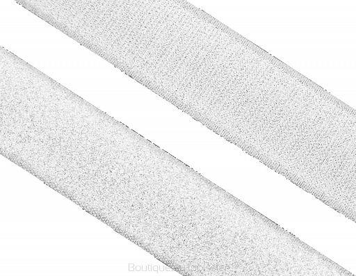 Velcro à coudre boucle et crochet 25m 20mm  Velcro: boucle et crochet Couleur: blanc ou noir Largeur: 20mm 1 pièce = 1 rouleau de 25m