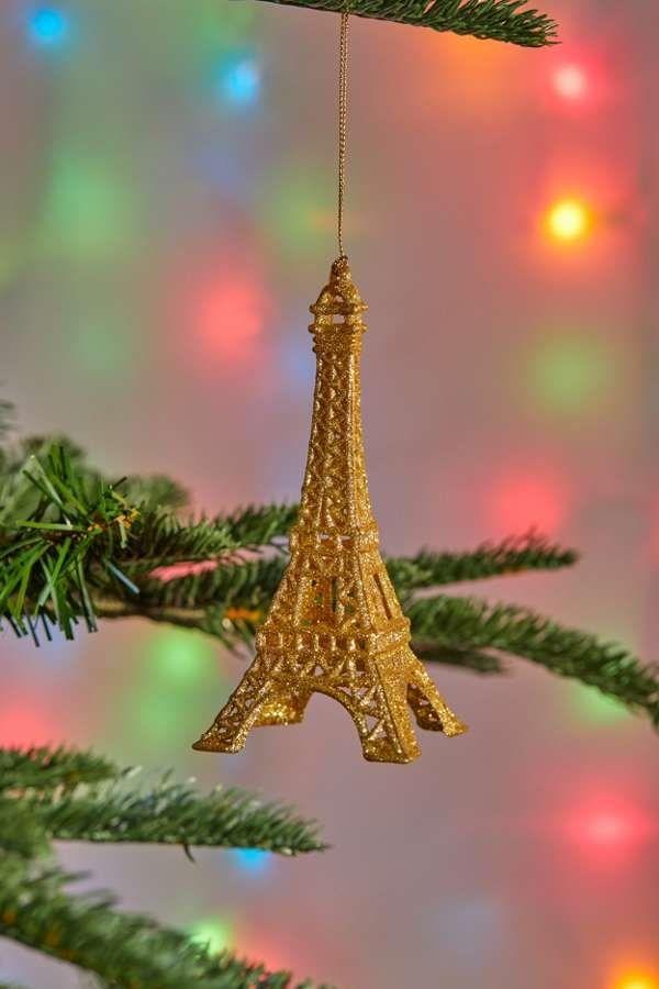 Eiffel Tower Christmas Ornament - Eiffel Tower Christmas Ornament 'Tis The Season Christmas