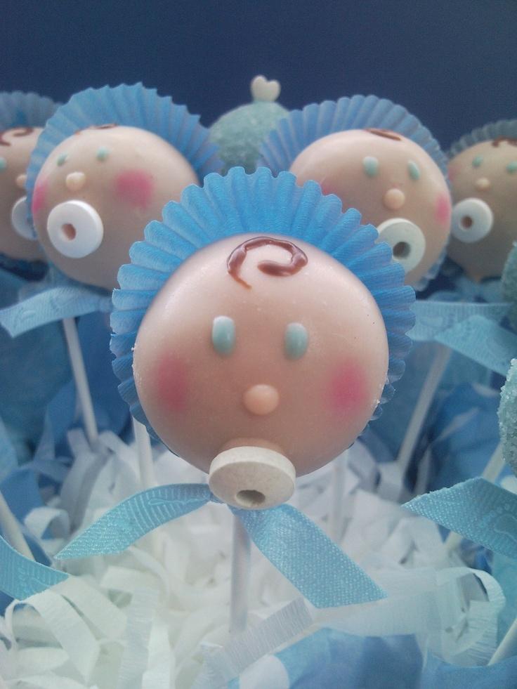 Cake pops for baby shower