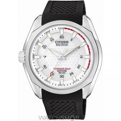 Mens Citizen Golf Titanium Eco-Drive Watch BM7120-01A