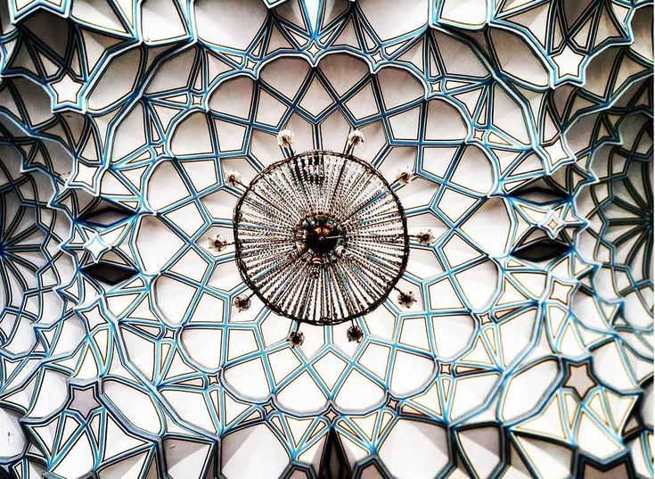 Architect Photographs Extraordinary Ceilings in Iran   Yellowtrace