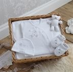 Picture of Congratulations Baby Hamper Gift Basket White 0-3 months #Izziwotnot #Gift #Nursery #Baby #Bear