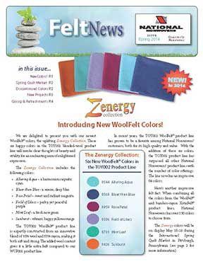 Wool Felt from National Nonwovens - WoolFelt is the original wool felt