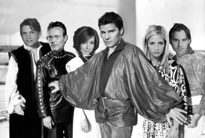 Fantasy Recast #6:  Buffy's 7.  Instead of fighting demons and vampires, our troupe of space rouges battle a tyrannical Federation.  Starring Marc Blucas as Gan, Anthony Stewart Head as Avon, Alyson Hannigan as Cally, David Boreanaz as Blake, Sarah Michelle Gellar as Jenna, and Nicholas Brendon as Vila.  Down and safe!