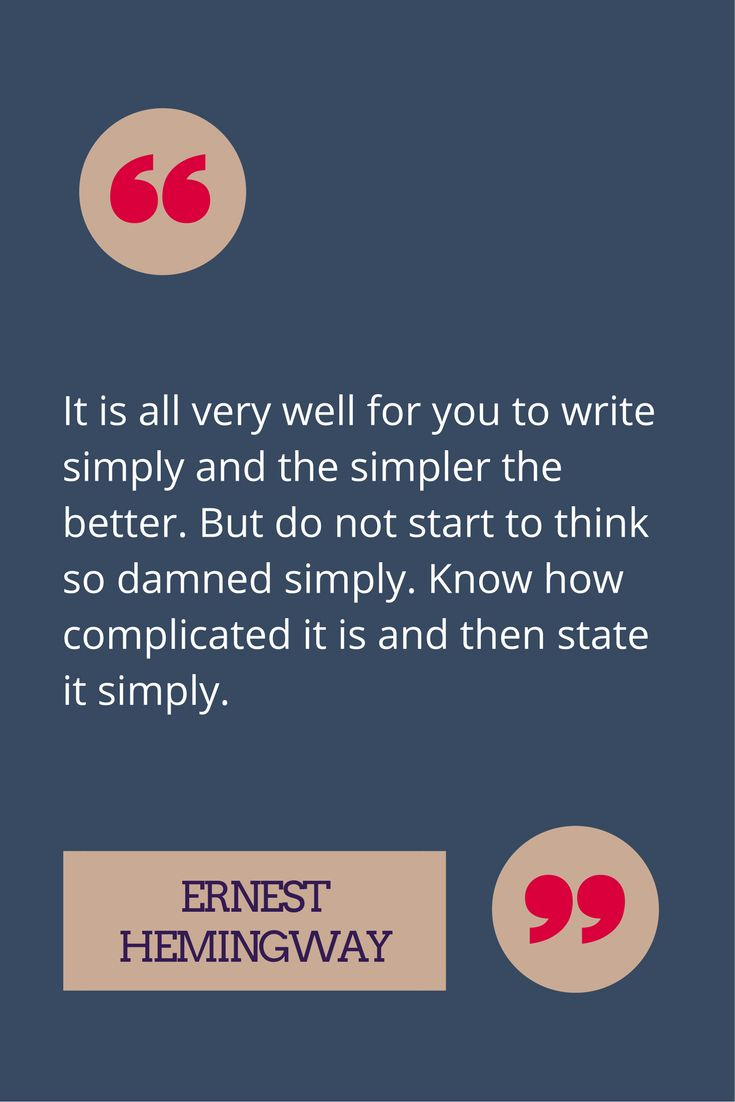 We don't need to oversimplify our ideas in order to write with plain language.