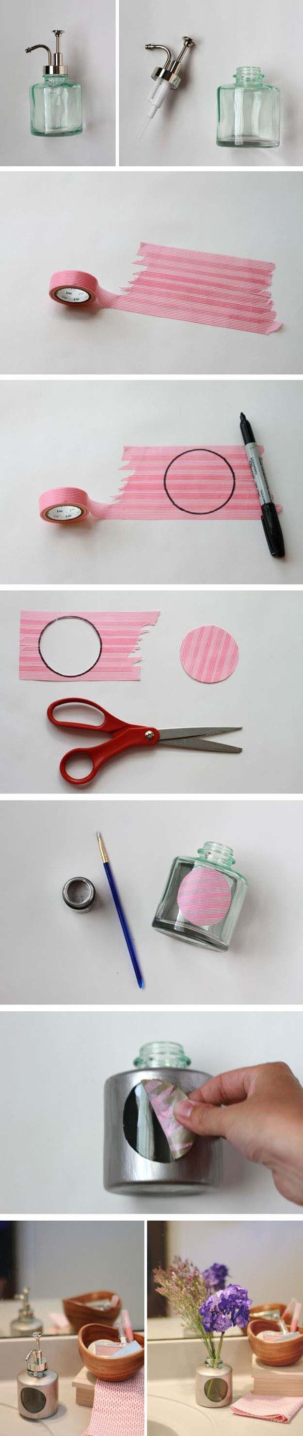 DIY Craft Ideas for the Home | Home Decor on a Budget | DIY Soap Dispenser Ideas | DIY Projects and Crafts by DIY JOY at http://diyjoy.com/craft-ideas-diy-soap-dispensers