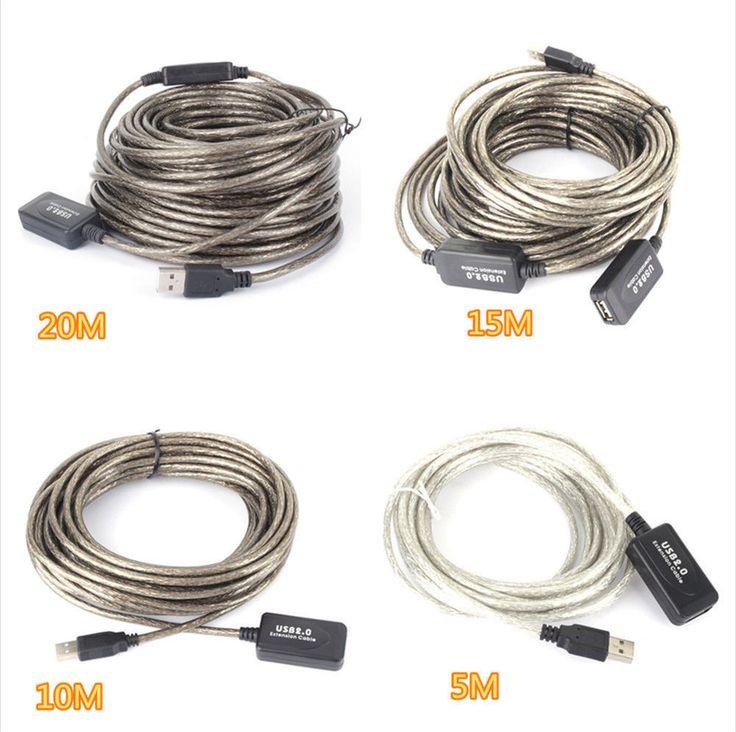 5M/10M/20M/15M USB 2.0 Aktive Extension Repeater Verlängerung Kabel 480 Mbps