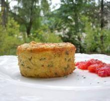 Recette - Flan de polenta à la ricotta, courgettes & chèvre - Notée 4.2/5 par les internautes