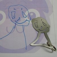 this is awesome.. kids drawing turned to keychain or charm...