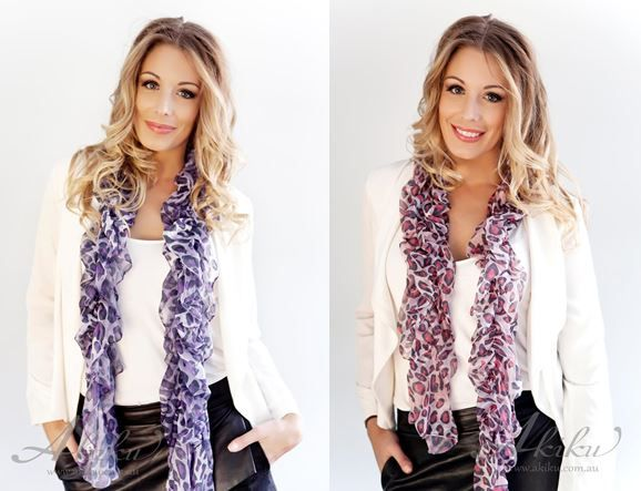 EXTREMELY SOFT SILKY FEEL BOUNCY ANIMAL PRINT SCARF!  $22.95 - www.akiku.com.au