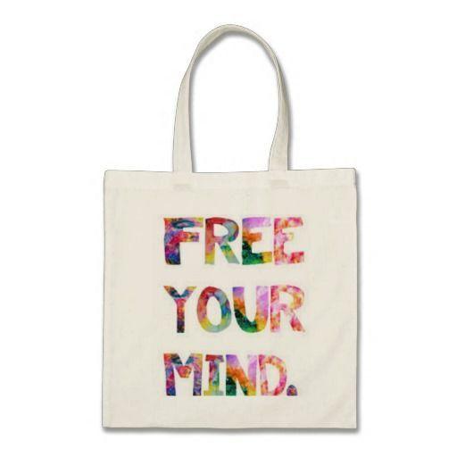 Bolsa  100% Algodón  Asa larga  34 x 40 cm  Color Natural. Talla unica. Ilustración estampada creada por nosotros. Free your mine. de CreativeTienda en Etsy