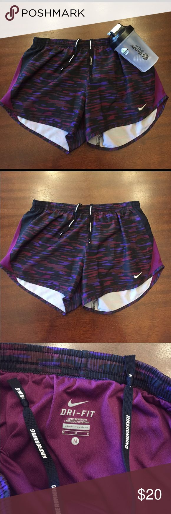 Nike dri-fit running shorts Absolutely perfect condition. Like brand new! These have a liner and drawstring inside. Does not come with blender bottle but if you're interested feel free to ask! No problems at all. Feel free to ask questions! Bundle to save!❤️ GET THEM BEFORE THEY'RE GONE! Many people have these shorts in a bundle right now so hurry!✨✨✨✨✨✨ Nike Shorts