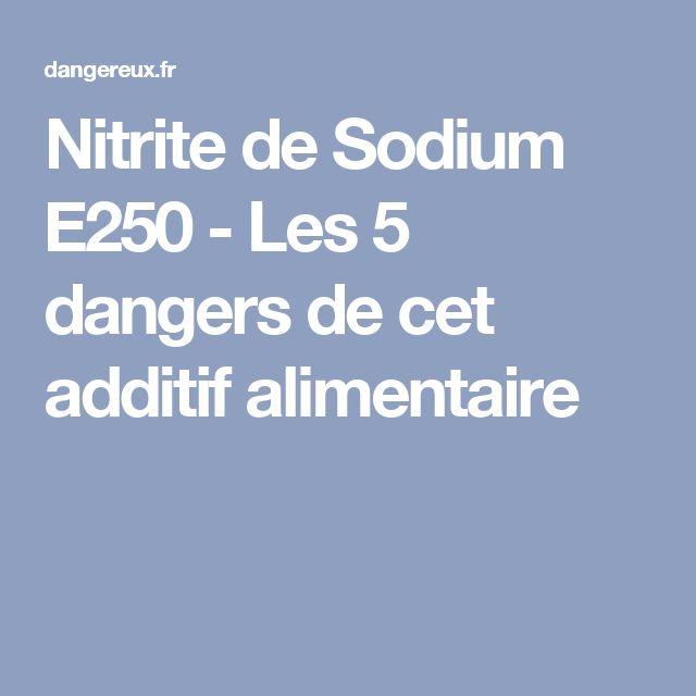 Nitrite de Sodium E250 - Les 5 dangers de cet additif alimentaire