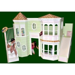 It's a bunk bed and playhouse all in one…so freaking cool!!