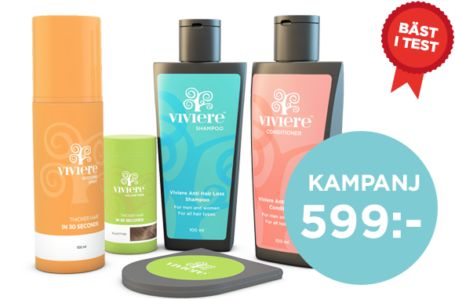 Köp Viviere Volume Fibre 22 gram, Viviere Boosting Spray, Viviere Anti Hair Loss samt Viviere spegel för endast 599 kr (ord 711 kr) inkl. frakt.