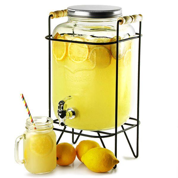 yorkshire mason jar drinks dispenser with stand 8ltr beverage dispenser juice dispenser buy at - Beverage Dispensers