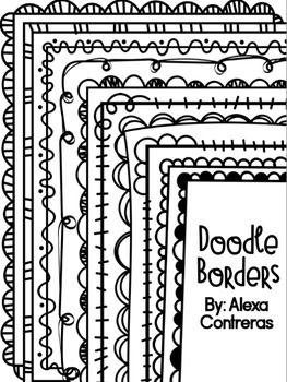 Doodle Borders Set 1 :)                                                                                                                                                                                 More