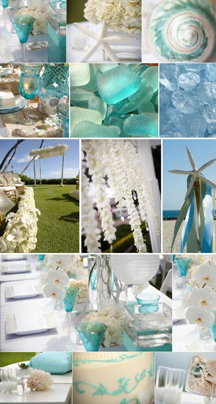 beach glass!Wedding Inspiration, Tiffany Blue, Beach Theme, Beach Weddings, Wedding Colors, Wedding Theme, Beach Brides, Blue Wedding, Sea Glasses