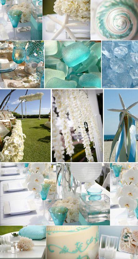 beach wedding: Wedding Inspiration, Tiffany Blue, Beaches Theme, Beaches Bride, Wedding Colors, Wedding Theme, Blue Wedding, Sea Glasses, Beaches Wedding