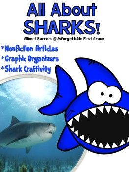 Are you looking for a way to engage your students in learning all about sharks? This nonfiction unit has everything your kiddos will need to become an expert on everything sharks. The nonfiction articles in this unit will help your students understand, learn, and become familiar