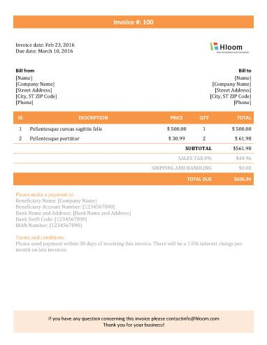 152 best Invoice Templates images on Pinterest Invoice template - microsoft invoices