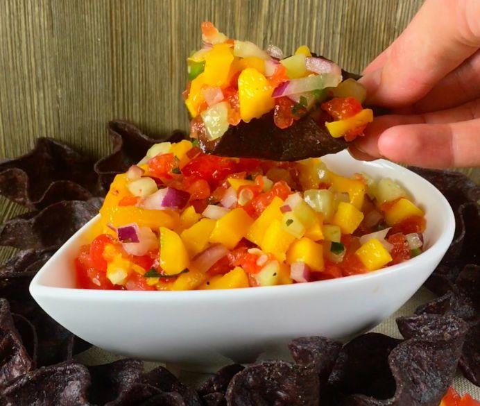 Watermelon Mango Salsa Appetizer Recipe