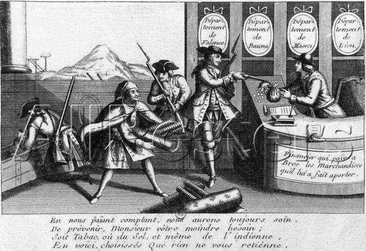 Mandrin attaquant un entrepot de tabac.  Historia del Legendario bandido y contrabandista Louis Mandrin.