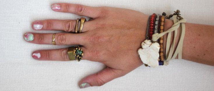 Marble nail art Try using a toxin free nail polishes like my favorite brand Zoya http://www.zoya.com/
